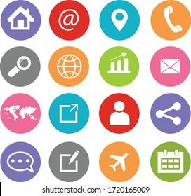 Web icon Set symbol vector, web icon illustration. web button vector.