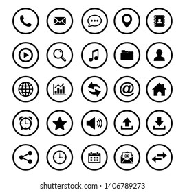 Web icon set symbol. Website set icon vector. for web computer and mobile