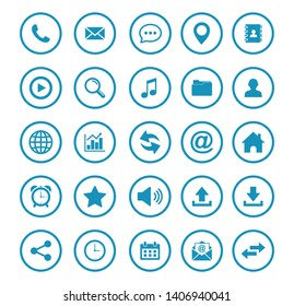 Web icon set symbol. Website set icon vector. computer and mobile icons