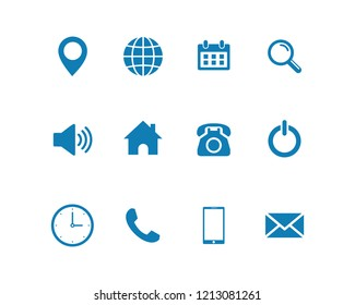 Web icon set vector. for web computer and mobile