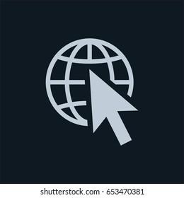web icon, stock vector illustration flat design