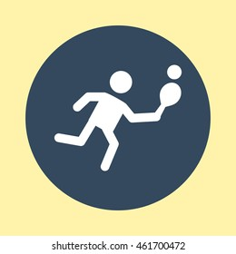 Web Icon of Table Tennis Player.