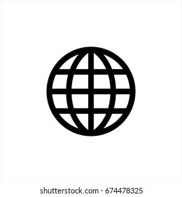 Web icon in trendy flat style isolated on background. Web icon page symbol for your web site design Web icon logo, app, UI.