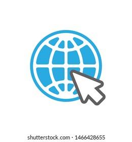 Web icon. Website pictogram. Internet symbol isolated on white background. Flat style. Vector illustration