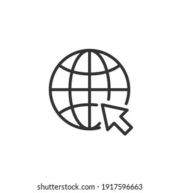 Web icon. Website vector icon. Internet world vector on white background.