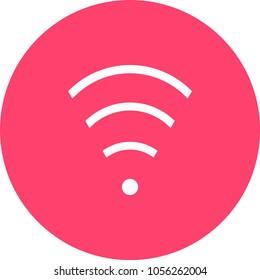 web icon wifi symbol wireless internet network vector