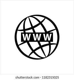 Web Icon, Www Icon Vector Art Illustration