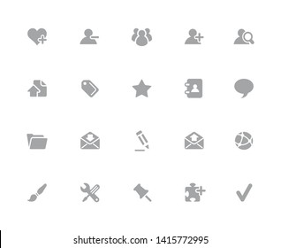 Web Icons // 32 pixels Icons White Background - Vector icons designed to work in a 32 pixel grid at ten percent.