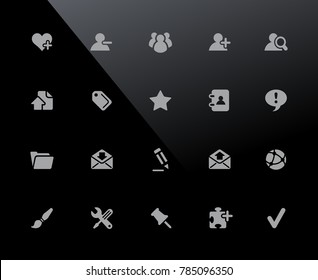 Web Icons // 32px Series - Vector icons adjusted to work in a 32 pixel grid.