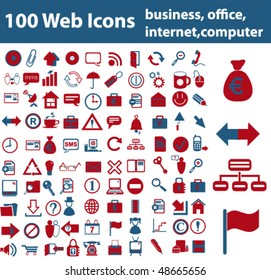 Web Icons - business, office, internet, computer