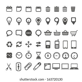 Web icons collection isolated on white