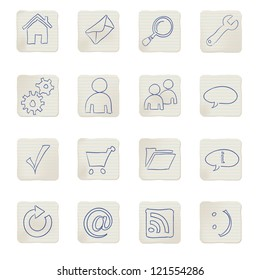 web icons doodles