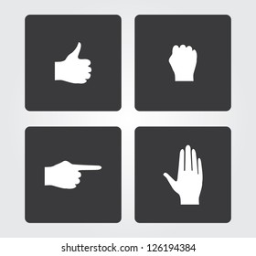 Web icons: hands