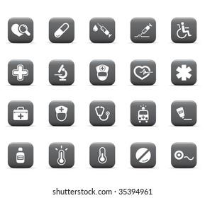web icons, health care