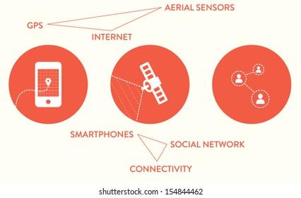 Web icons, infographic