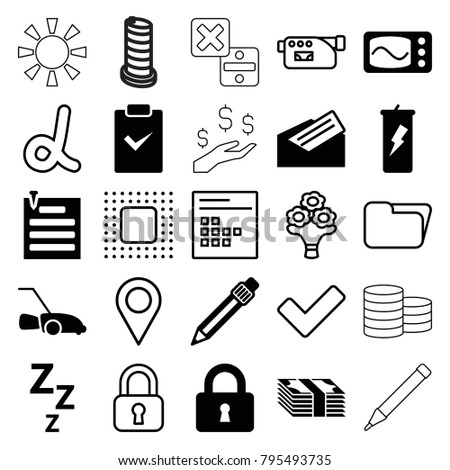 Web Icons Set 25 Editable Filled Stock Vector Royalty Free