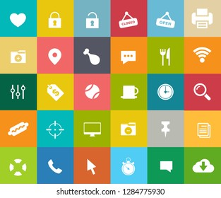 web icons set, communication Icons, computer and mobile icons, media icons