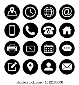 Web icons set. Web design icon. computer and mobile icons. phone, website, mail, time, call, home, printer, laptop, calendar, chat, edit, pin, map, person,