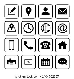 Web icons set. Web design icon. computer and mobile icons. phone, website, mail, time, call, home, printer, laptop, calendar, chat, edit, pin, map, person
