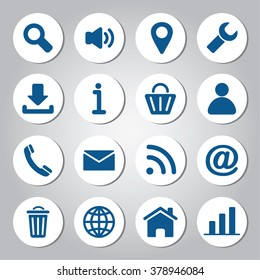Web icons set. Elements of modern icons for user interface.