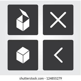 web icons set: objects