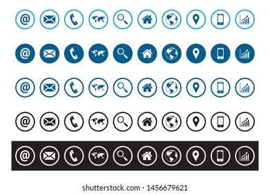 web icons set in vector format