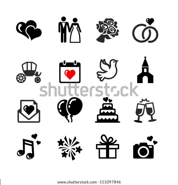 Hochzeit Symbole Clip Cliparts Vektoren Einladung Von Getgodigital