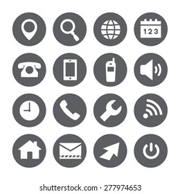 web icons, vector set