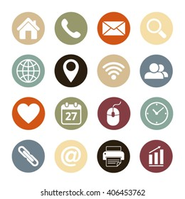 Web icons.Vector illustration.