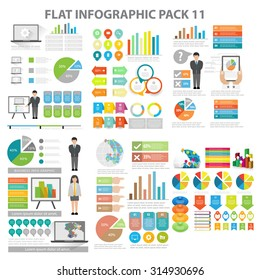 Web Infographic element pack 11. vector