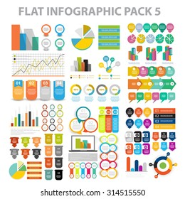 Web Infographic element pack 6. vector