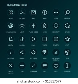 Web Interface icons. Menu icons. Vector mono line-weight icons. Interface design. Fully editable. Infinitely scalable. UI icons. App icons. Interface icons. Linear interface icons. Web Interface icons
