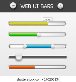 web interface ui elements. Vector illustration