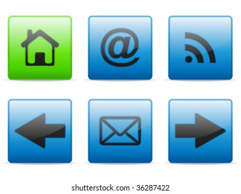 Web and internet buttons set, vector
