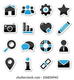 Web and internet icons set