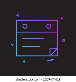 Web layout icon design vector