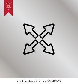 Web line icon. Arrows