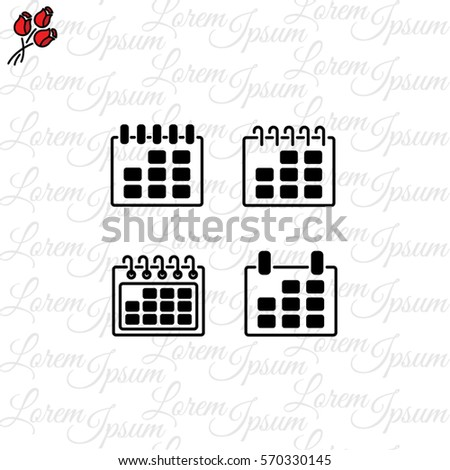 Web Line Icon Calendar Stock Vector (Royalty Free) 570330145