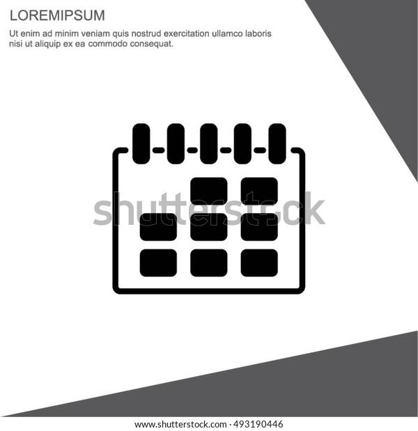 Web line icon. Calendar