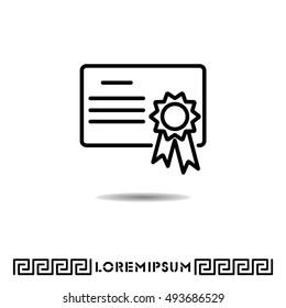 Web line icon. Charter, certificate