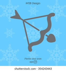 Web line icon. Cupid's arrow.