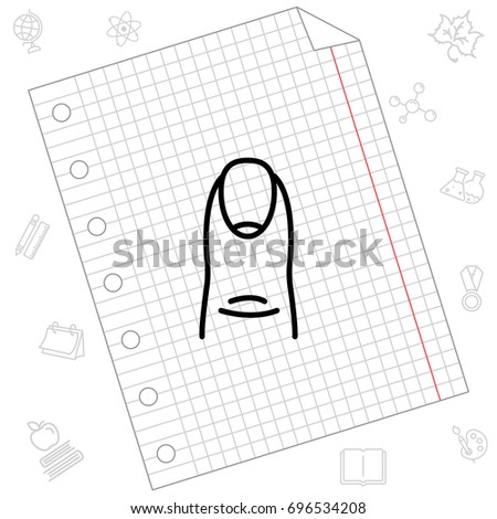 Web Line Icon Finger Nail Stock Vector Royalty Free 696534208