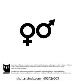 Web line icon. Gender symbol, Symbols of men and women