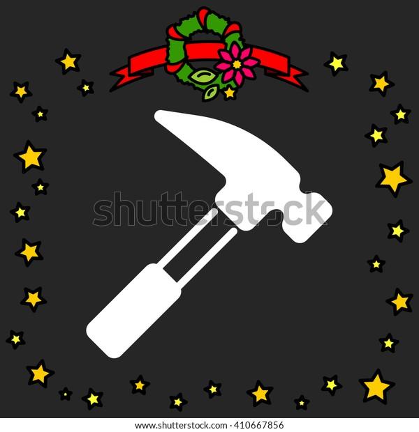 Web line icon. Hammer