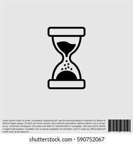 Web line icon. Hourglass