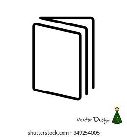 Web line icon. Open book