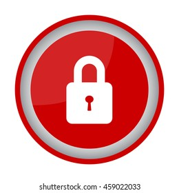 Web line icon. Padlock