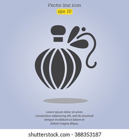 Web line icon. Perfume