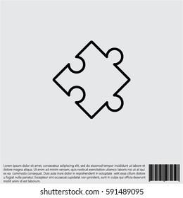 Web line icon. Puzzle
