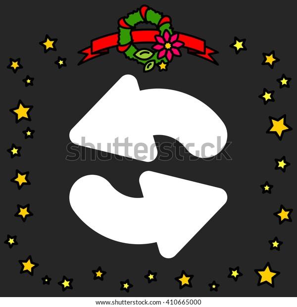 Web line icon. Refresh; two circular arrows